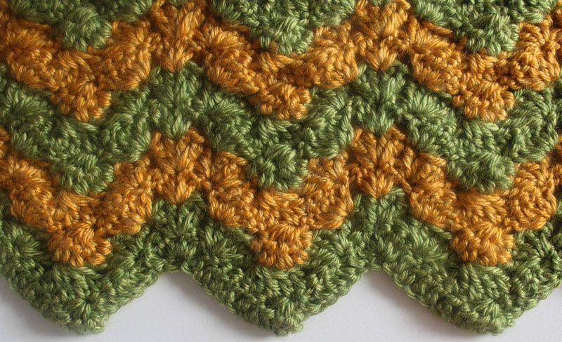 Triplet Ripple Baby Blanket {Free Crochet Pattern} | Bordes de ...
