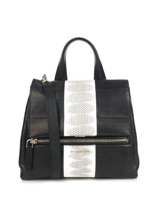 2109df320e Givenchy Pandora Pure small snakeskin shoulder bag