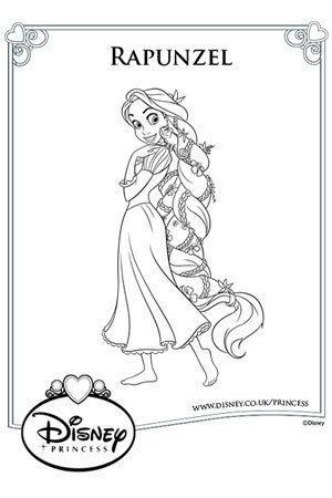 Rapunzel And Pascal Colouring Page Coloring Kids çocuklar Için