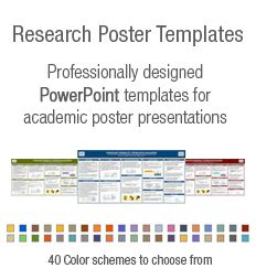 Powerpoint Poster Templates For Research Poster Presentations Research Poster Powerpoint Poster Template Academic Poster