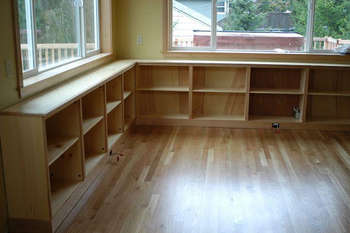 Ballard Bookcase Window Seats Under Windows Tv In Living