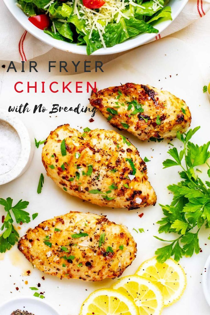 Air Fryer Chicken with No Breading Recipe Fried