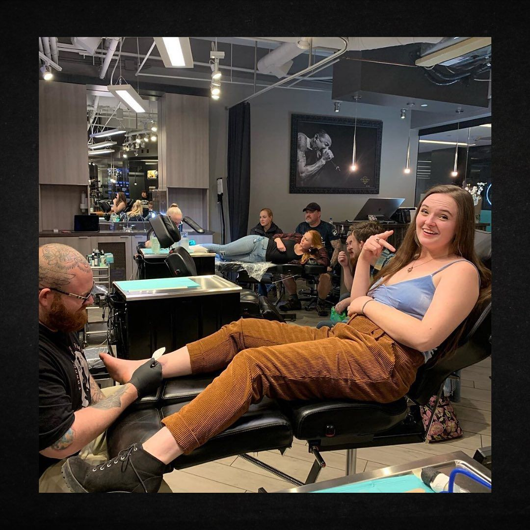 A family that gets tattoos together stays together! @pennymunch and @usernamesal hard at work. Come and join the Club today!⠀ ⠀ ⠀ ♣JOIN THE CLUB & FOLLOW♣⠀ @clubtattoo for Tattoos   Piercings   Lifestyle⠀ ⠀ ⠀ #clubtattoo #clubtattoorules #clubtattootempe #tattoo #tattoos #tattooer #tattooart #ink #inked #inkspiredmagazine #tattooersofarizona #photooftheday #bodyart #aztattooer #postmytattoo #arizona #mesa #tempe #scottsdale #asu #inkedmag #guyswithtattoos #girlswithtattoos #tattooed #tattooing