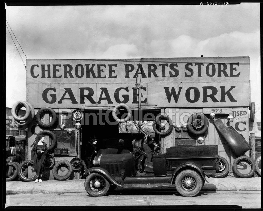 Print Collection Auto Parts Shop. Atlanta,