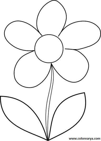 Flor Grande Dibujos De Flores Dibujos Para Colorear Paisajes Flores Para Imprimir