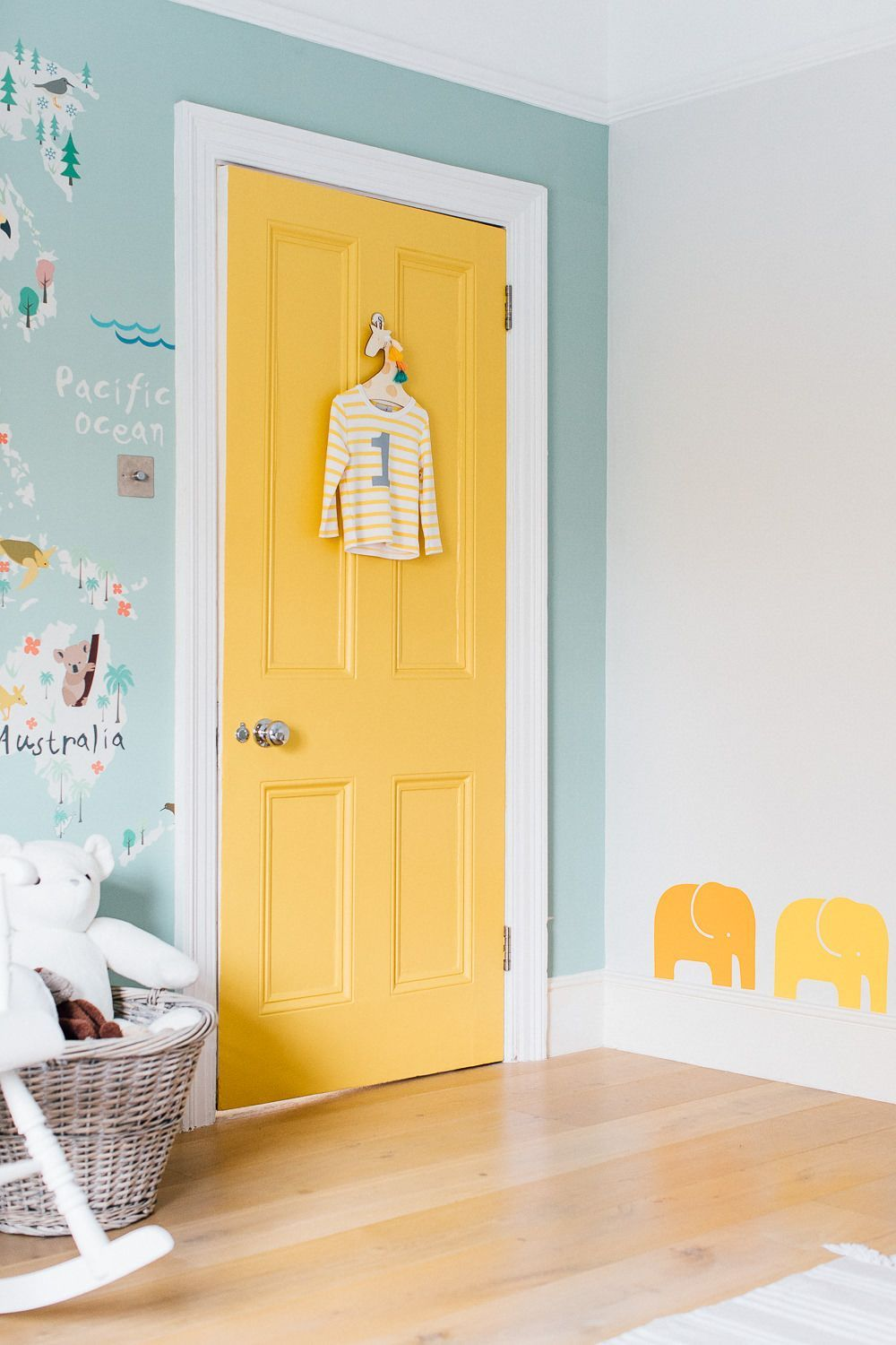 Statement door and elephant wall stickers #BoysRoomStickers ...