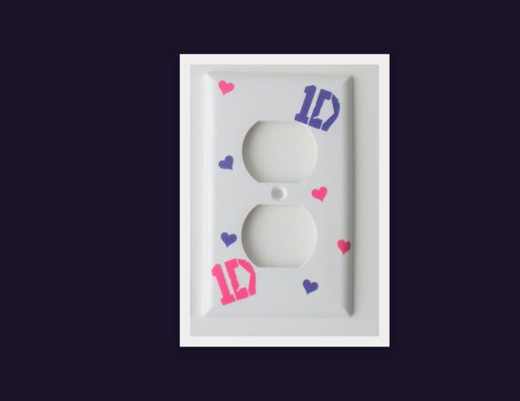One Direction Outlet Cover / 1D Bedroom Decor By RayneEDayCrafts, $2.50