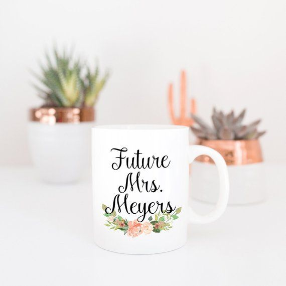 Personalised The Future Mrs Mug Cup Coaster wedding Engagement wife to be gift