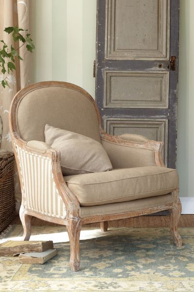 The Beauty Of Neutrals For The Home Striped Chair