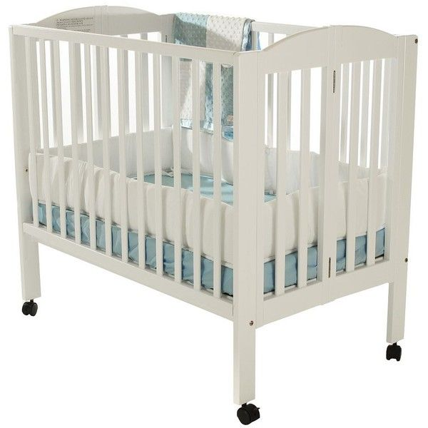 Dream On Me 2 In 1 Folding Portable Crib, White ($118)