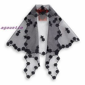 New American Girl Josefina Lace Mantilla With Comb From Christmas Holiday Outfit