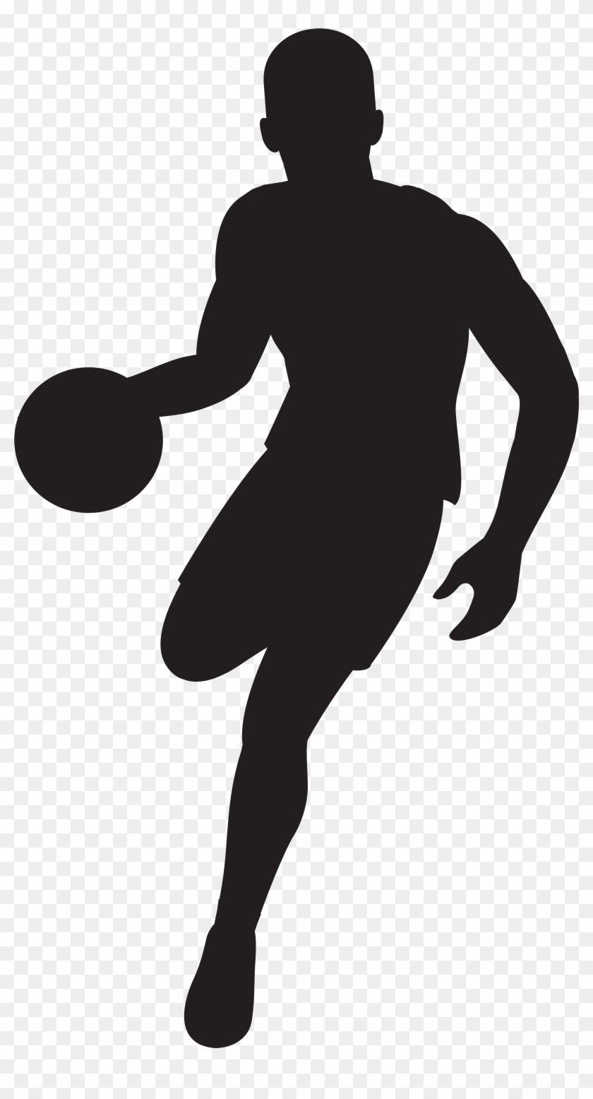 Basketball Player Silhouette Clip Art Image Basketball Player Silhouette Png Transparent Png Is Best Quality And H Silhouette Silhouette Png Silhouette Art