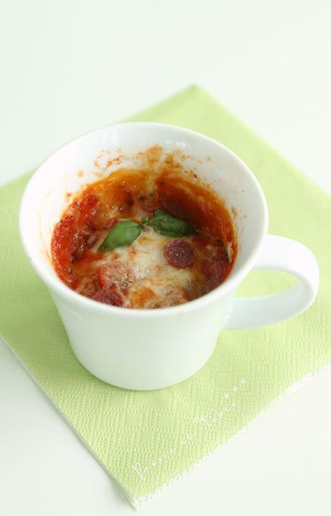 Super easy und schnell: Tassenpizza aus der Microwelle! Perfekt wenn es mal richtig schnell gehen muss!