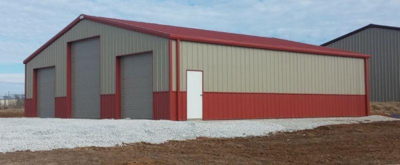 50 X 50 Steel Garage Kit Simpson Steel Building Company 5050 12 Metal Building Designs Prefab Buildings Metal Building Kits
