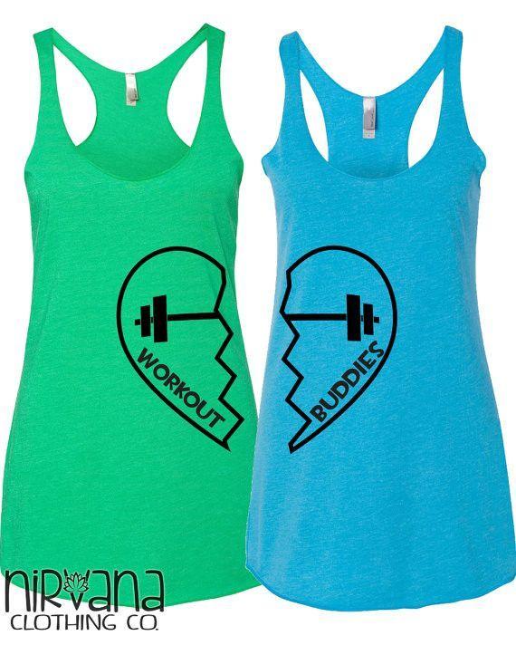 378a40d6ac4e0 Workout Buddies 2 Tanks- Workout Buddies Who s your workout buddy  These  make…