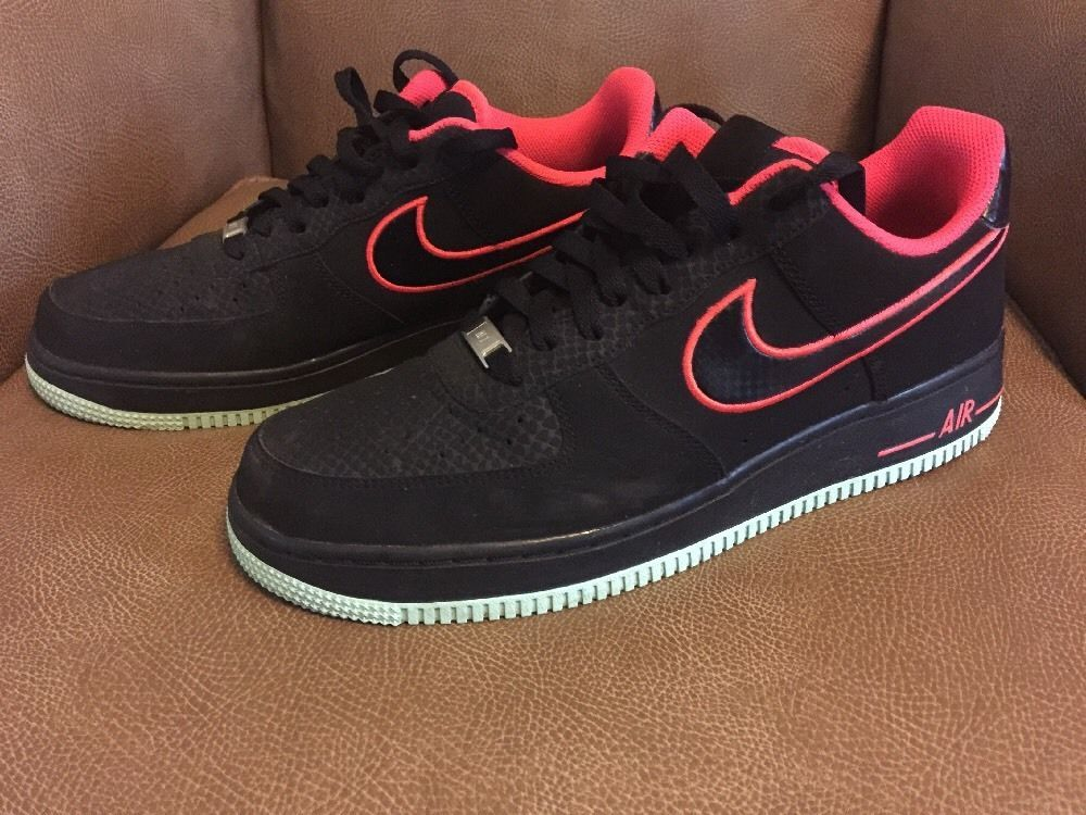 1dce8d3b5f5 Nike Air Force 1 YEEZY BLACK LASER CRIMSON ARCTIC GREEN 488298-048 sz 10.5   Nike  AirForce1
