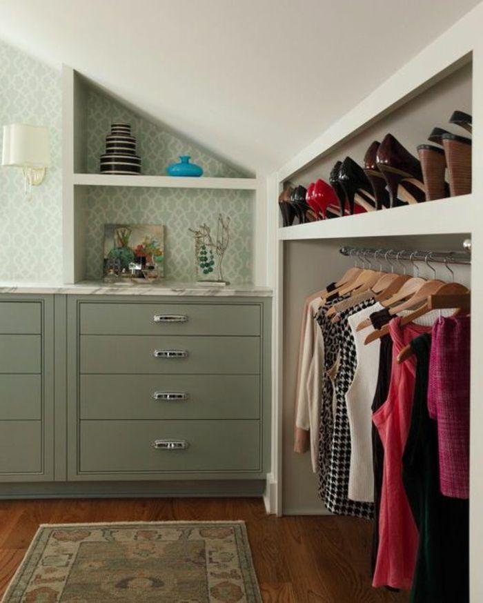 ▷1001+ Idée Pour Un Dressing Sous Pente Gain De Place   Dressing