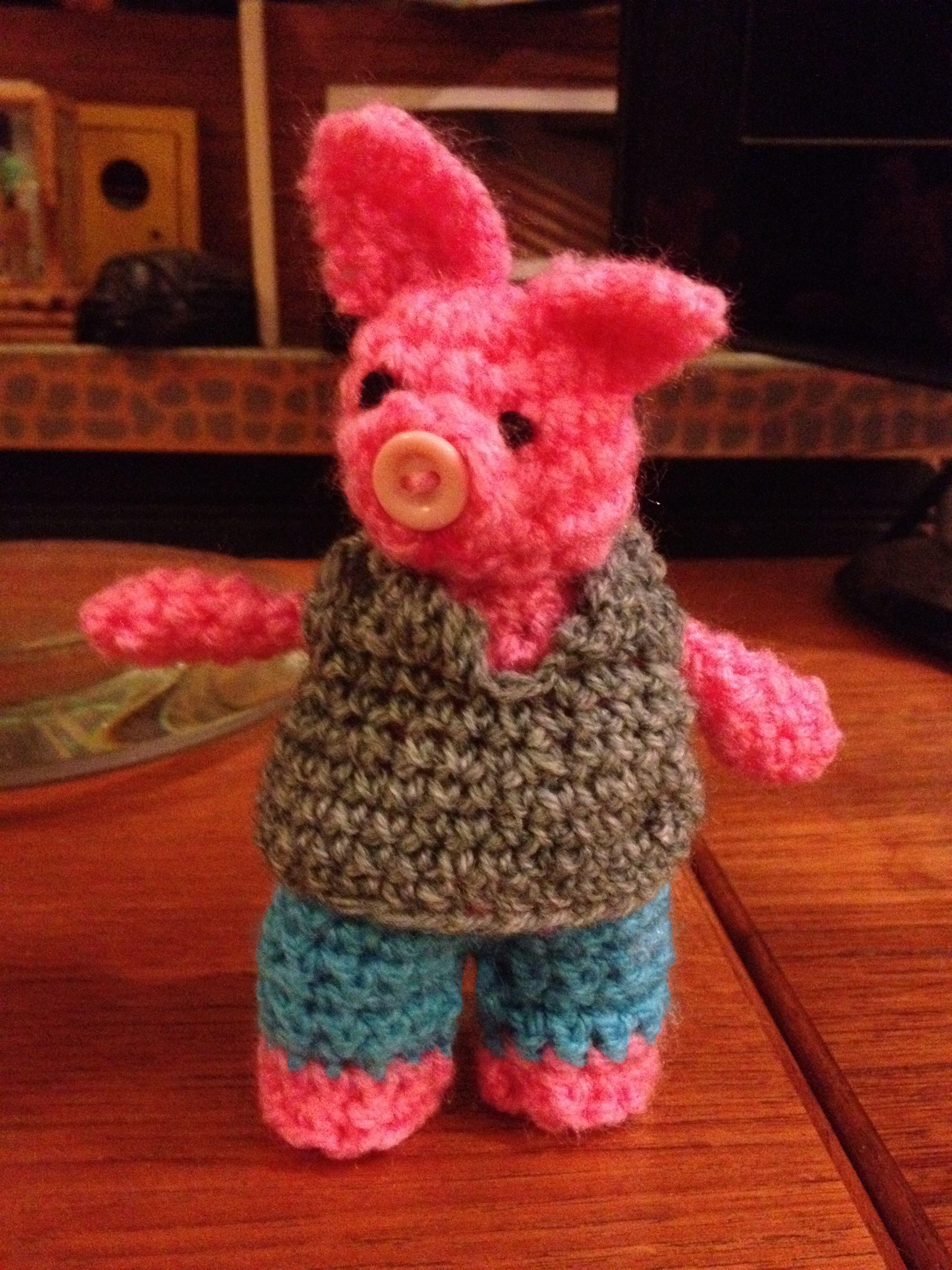 One Little Crocheted Pig