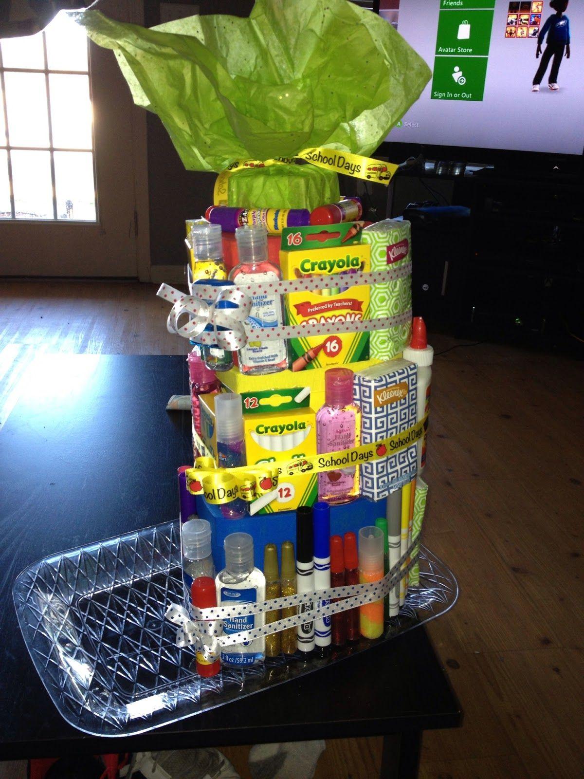 School Supply Basket School supplies, Basket, Diy crafts