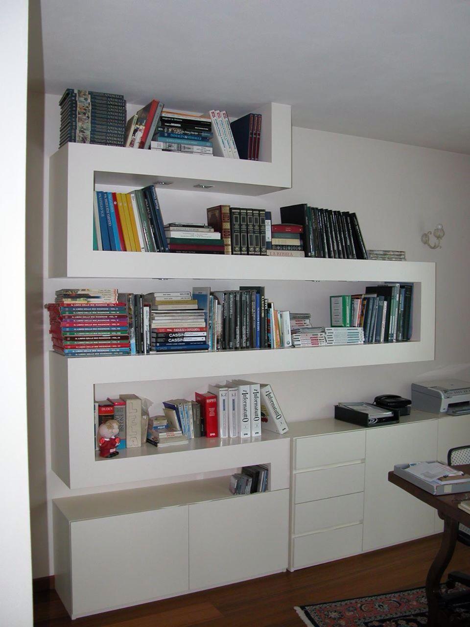 Ante Per Libreria Cartongesso cartongesso al-ma libreria in cartongesso. residenza privata
