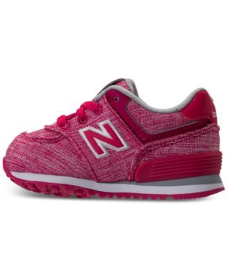 75a6d3791a788 New Balance Toddler Girls' 574 Tux Casual Sneakers from Finish Line - PINK/WHITE  10