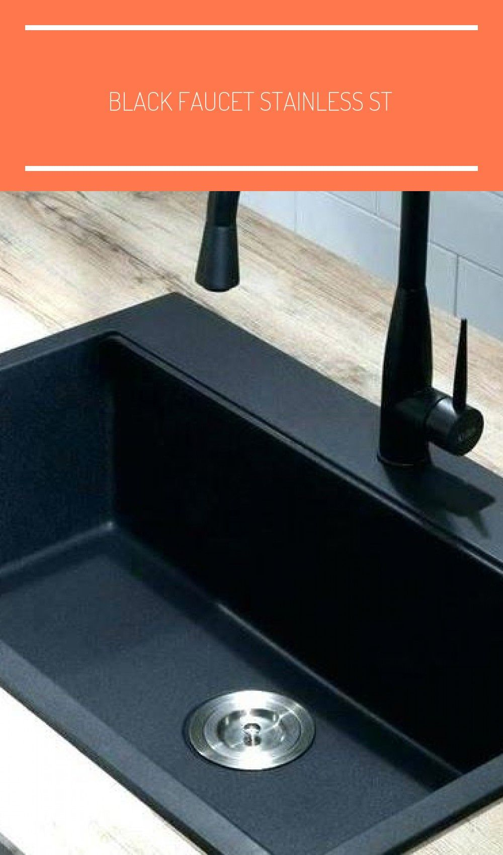 Black Faucet Stainless Steel Sink Awesome Black Stainless