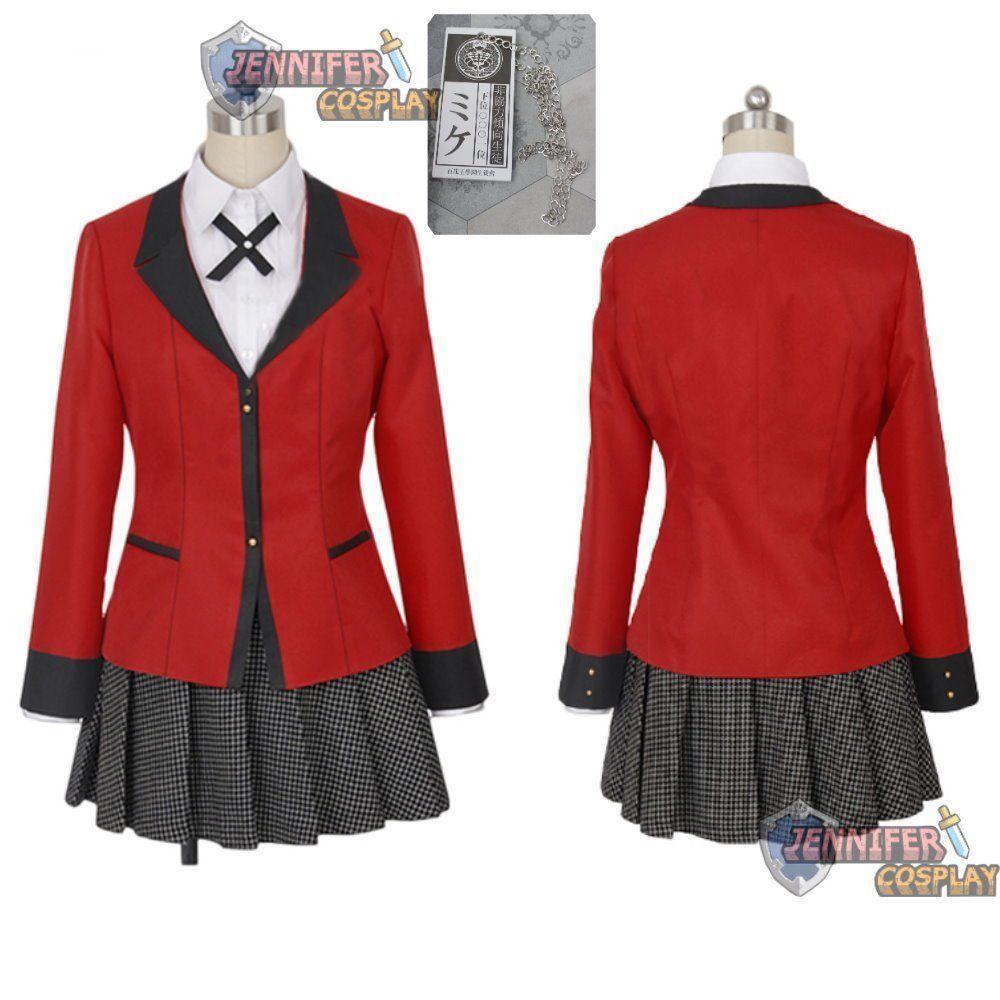919ad8b3327 Details about Kakegurui – Compulsive Gambler Yumeko Jabami cosplay ...