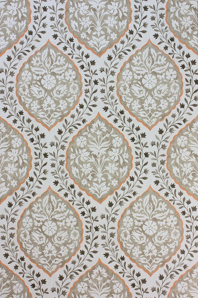 Marguerite Wallpaper in Tan from the Les Rêves Collection