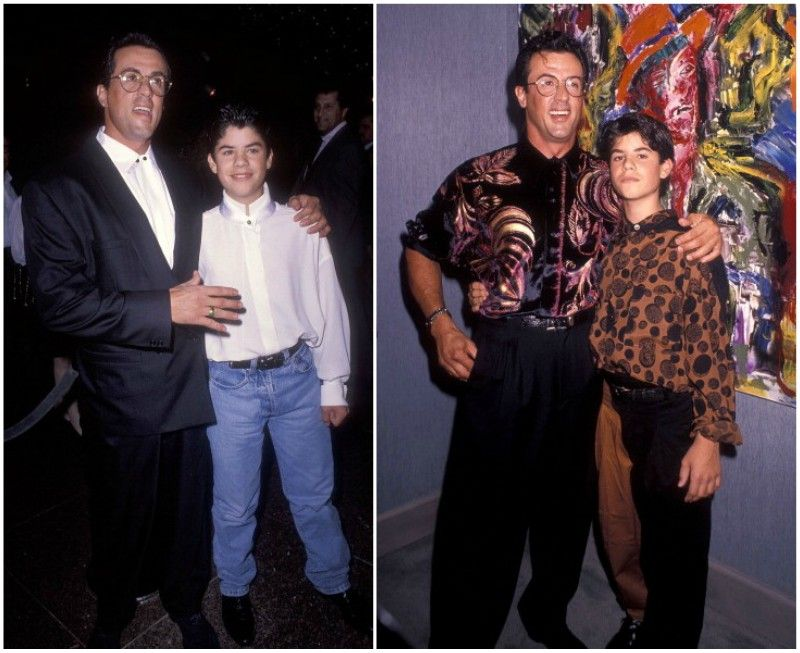 The Children In The Sylvester Stallone S Family Brood Sylvester Stallone Sylvester Stallone Family Sylvester