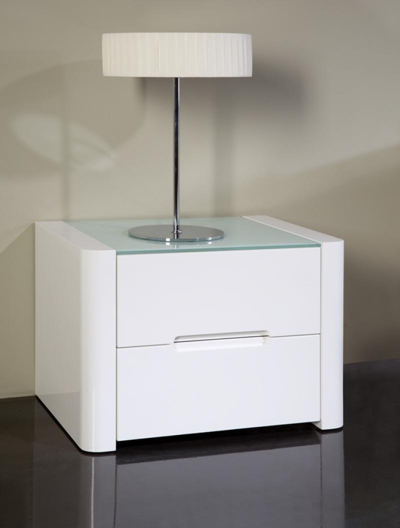 Opus Modern Bedside Cabinets In White Gloss Silver Or Mocha Finish Mesita De Noche Moderna Mesitas De Noche Blancas Mesitas De Noche
