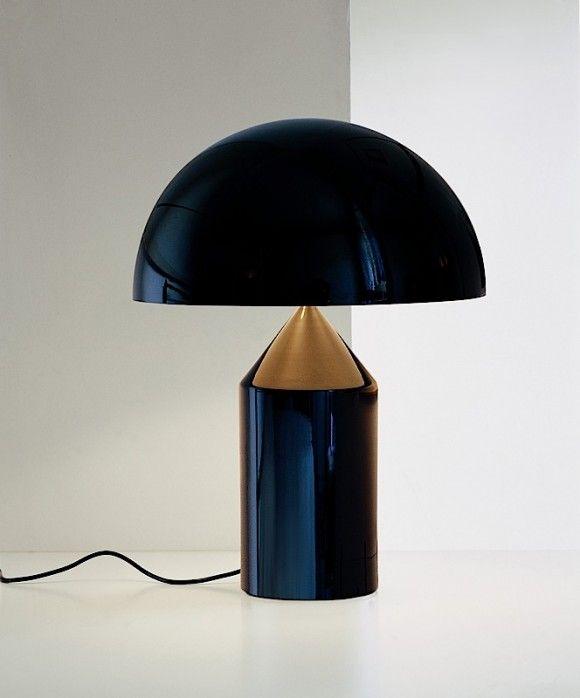 Vico Magistretti Table Lamp Atollo 233 For Oluce 1977 Bordslampor Lampor Belysning