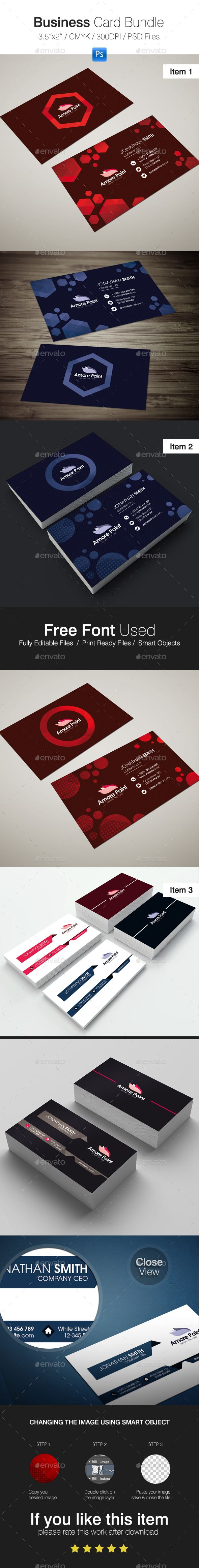 Business Card Bundle | Business cards, Print templates and Business