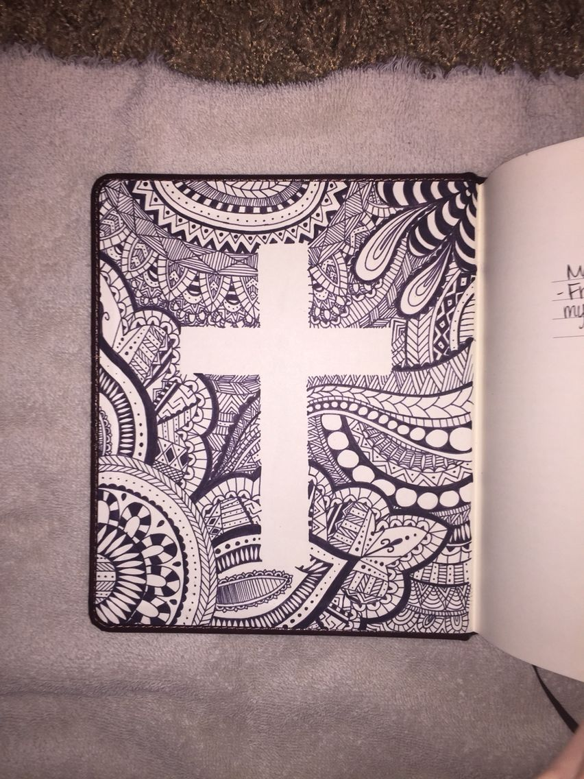 Of Bible Cover Cross Zentangle Art & Soul