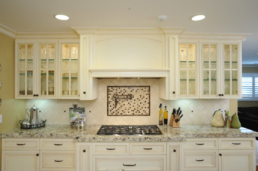 Range Hood Ideas Kitchen Traditional With Custom Cabinet Glass Cabinet