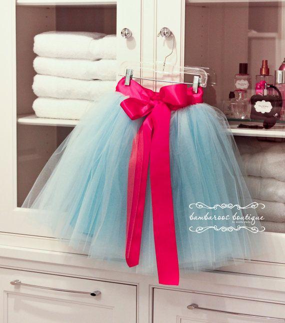Flower Girl Dress Blue tutu hot pink tutu от BambaroosBoutique ...