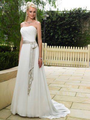 Vestidos sencillos para bodas de plata