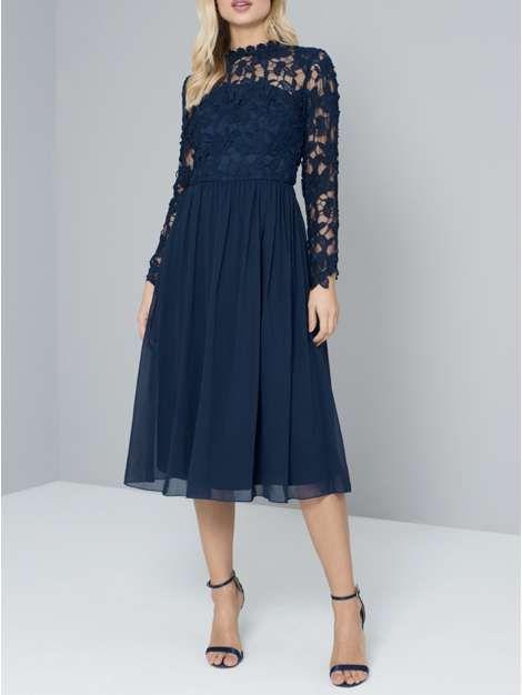Chi Chi London Crochet Bodice Midi Dress | Pinterest