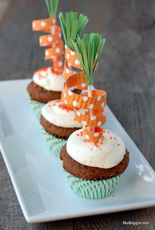 Diy Carrot Cake Toppers Easter Recipes Food Treats