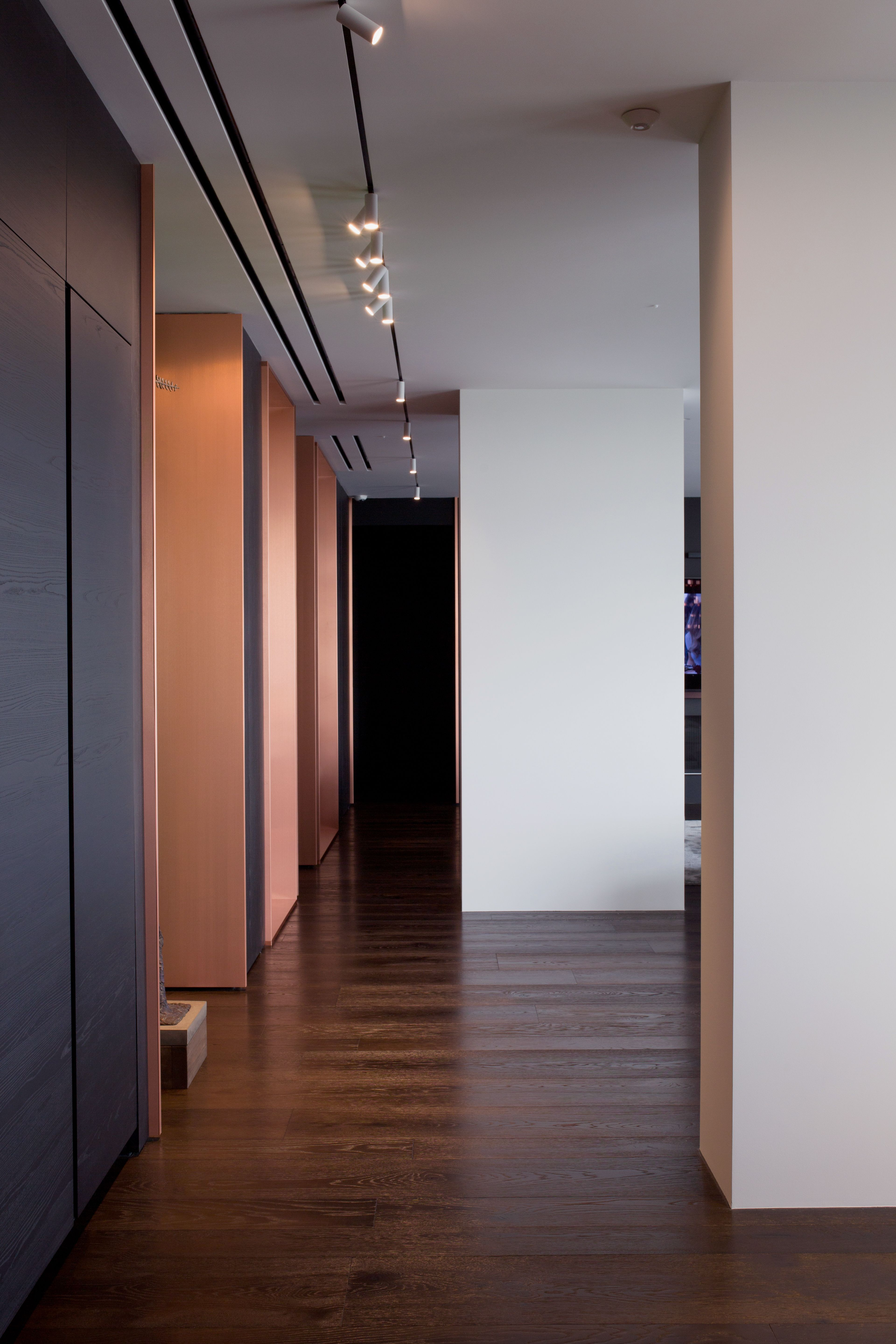 1950s hallway ideas  A Familyus Kiev Apartment Is Filled With Copper Marble and a