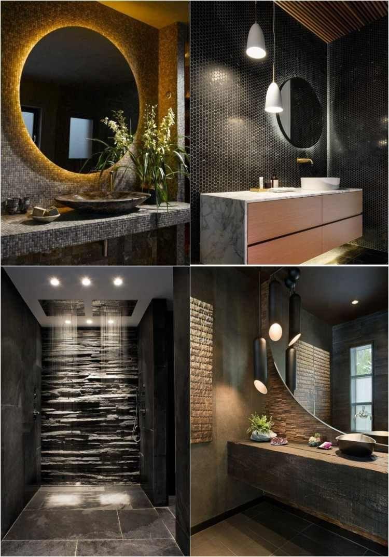 Plante Pour Salle De Bain Sombre déco murale salle de bain en 50 ambiances sombres et