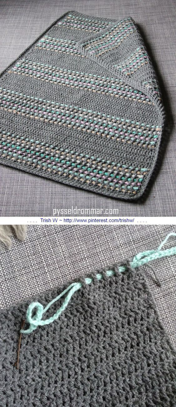 A very simple baby blanket worked in all DC | Stricken häkeln ...