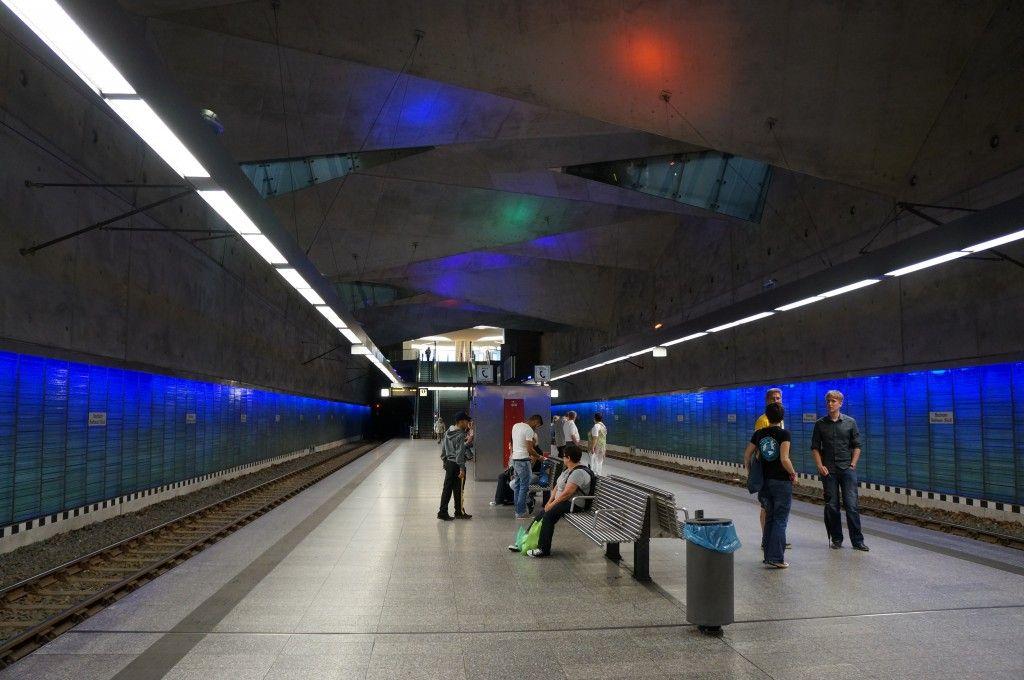 Bochum Rathaus Metro station.Bochum, Germany
