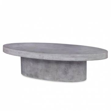 Moritz Oval Concrete Coffee Table Concrete Coffee Table Coffee Table Oval Coffee Tables