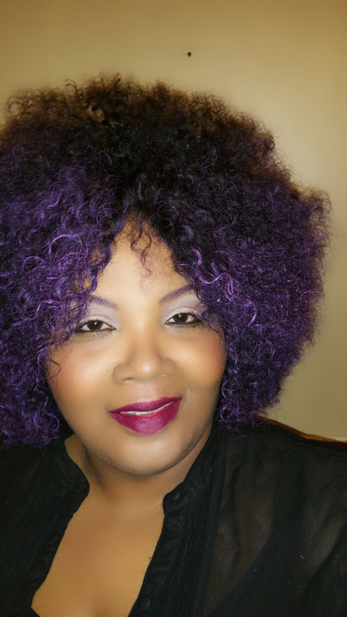 PURPLE HAIR DON'T CARE…. Purple hair, Hair, Natural hair