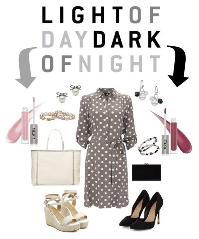 """Day to Night: Polka Dot Shirt Dress"" by rebeccalange ❤ liked on Polyvore"