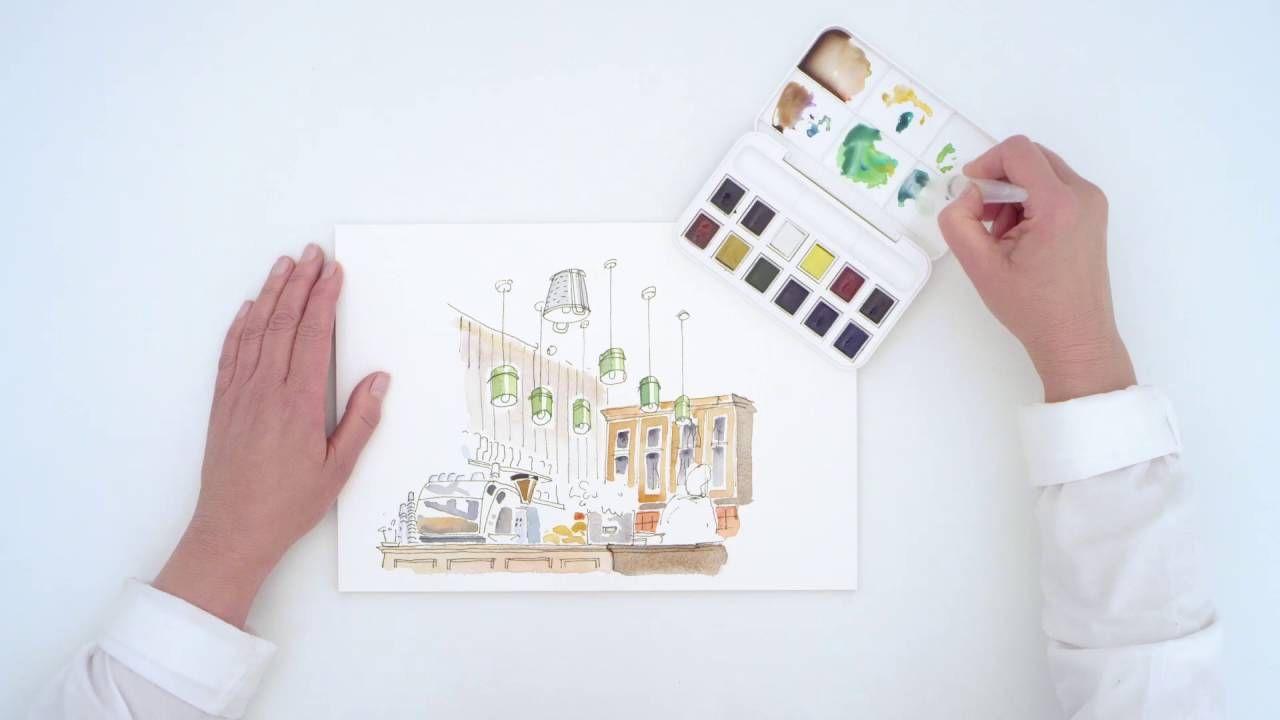 Cotman Watercolour Brush Pen With Water Reservoir Watercolor