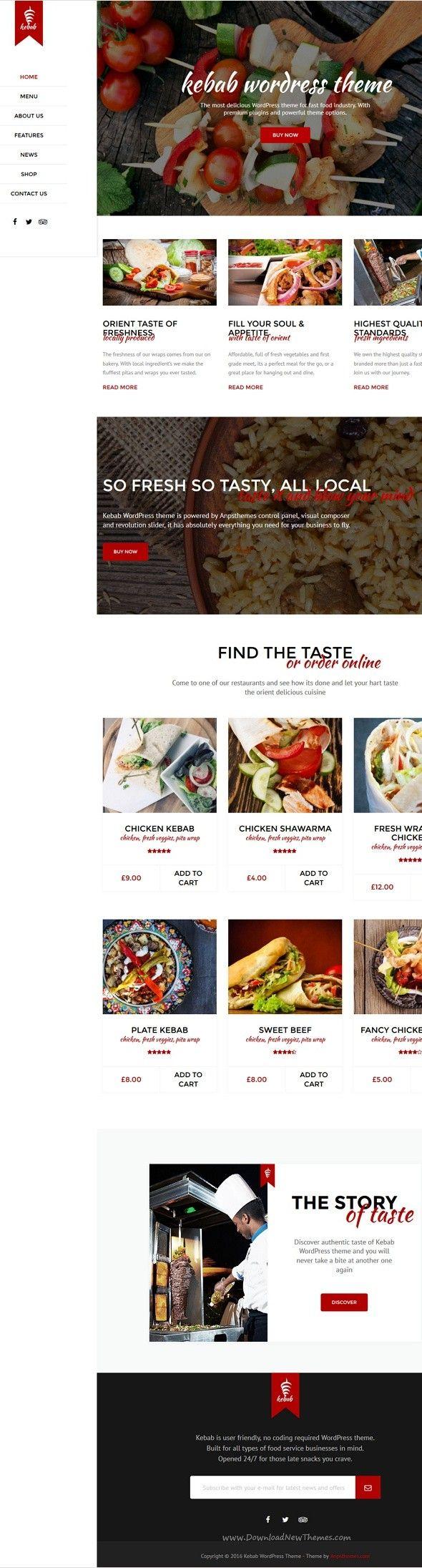 Kebab Restaurant Fast Food Wordpress Theme