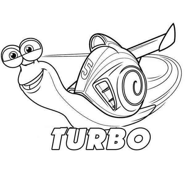 Click on the image to download this awesome Turbo colouring page