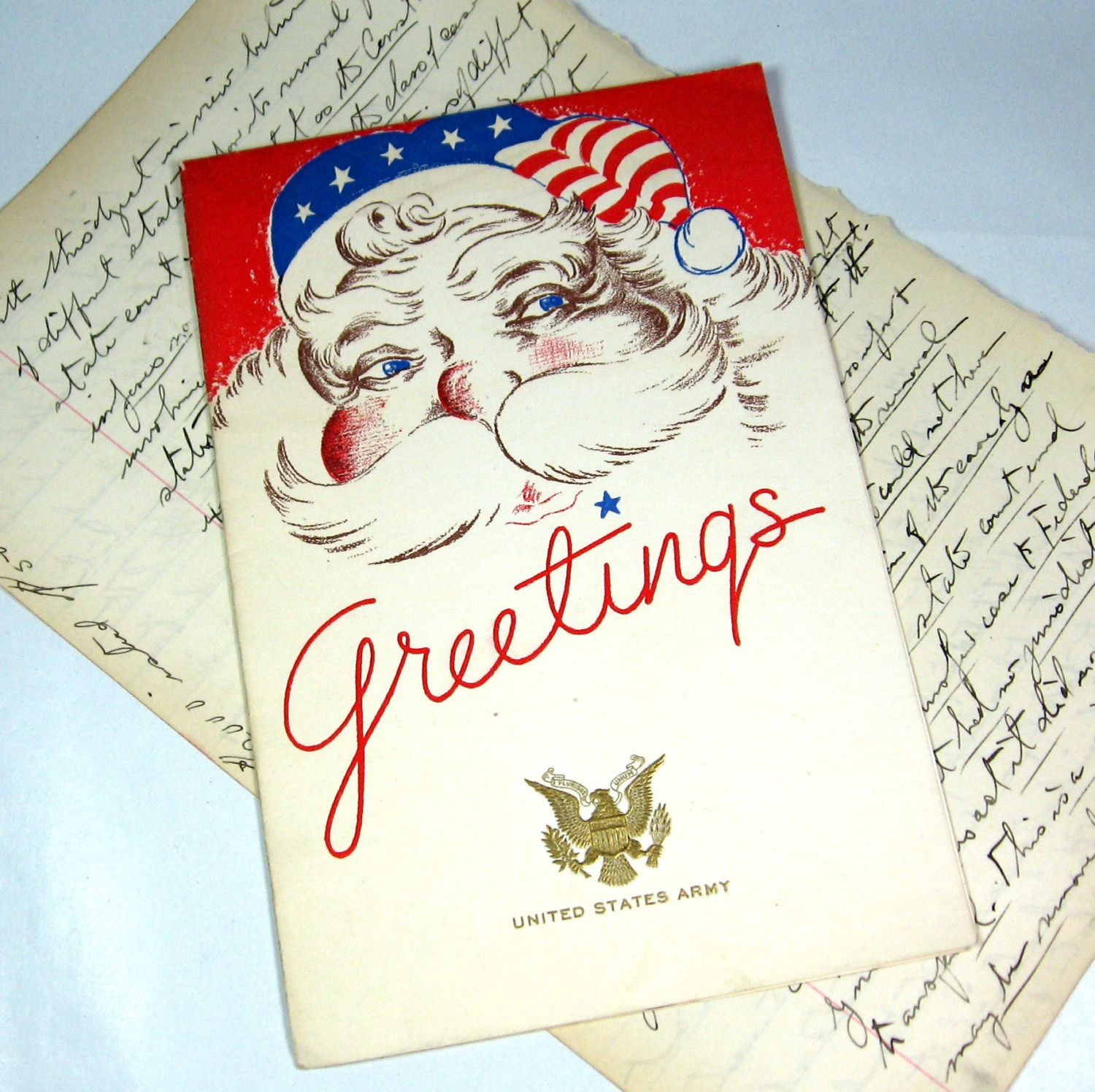 WWII United States Army Christmas Greeting Card