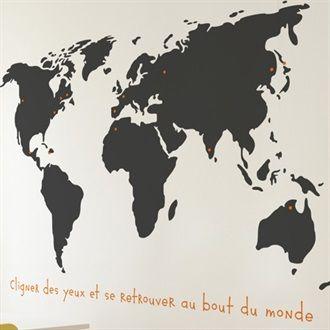 Adh sif d coratif mural carte du monde en 2019 sticker mural carte du monde carte du monde et - Decoration adhesif mural ...